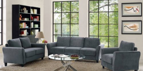 Rolled-Arm Microfiber Sofa Only $199 Shipped on Walmart.com