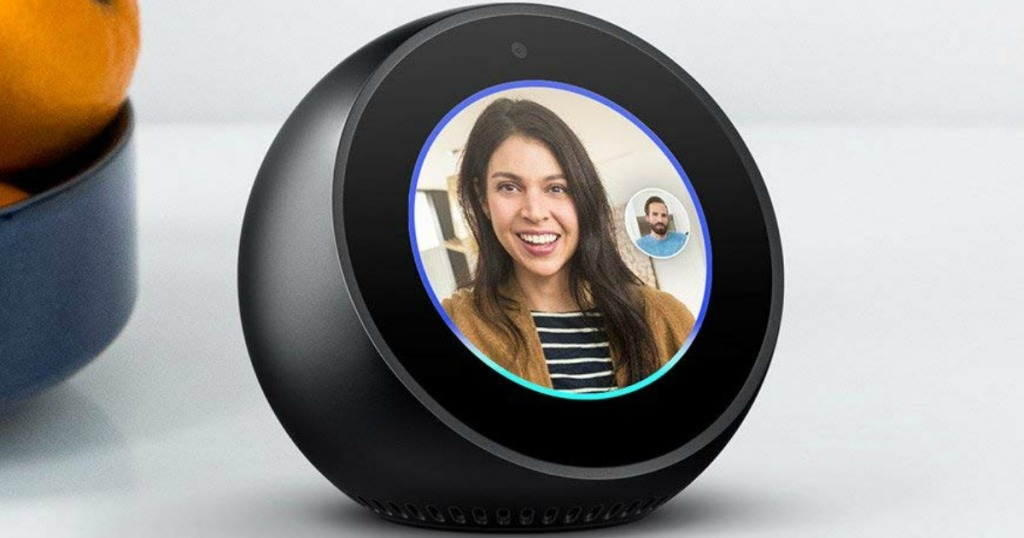 echo spot with person displayed