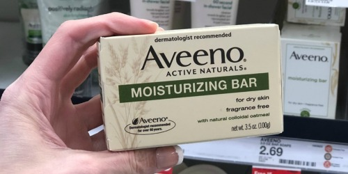 Aveeno Moisturizing Bars Only $1 Each After Target Gift Card (No Coupons Needed)