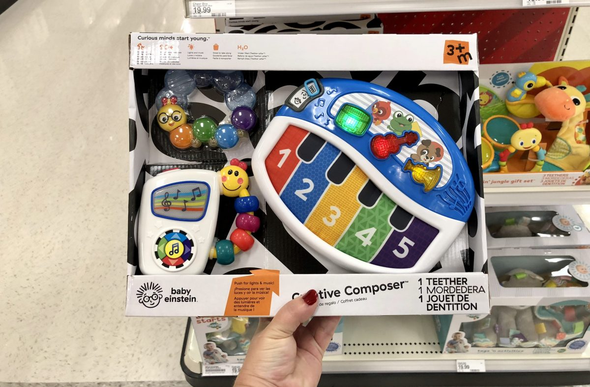 395229424 Baby Einstein Favorites Gift Set $19.99. Use the 25% off Infant Gift Sets & Cloud  Island Cartwheel offer. Choose in-store pickup. Final cost $14.99!