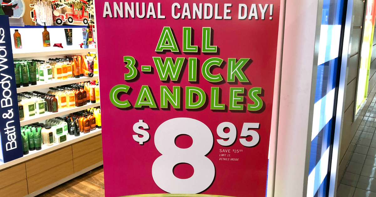 Bath & Body Works annual candle day coupons and deals