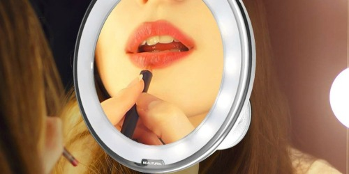 Amazon: Beautural 10x Magnifying Lighted Vanity Mirror Only $13.85 Shipped