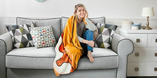 BigMouth Throw Blankets Just $14.99 on Zulily (Pizza, Popcorn or S'mores)