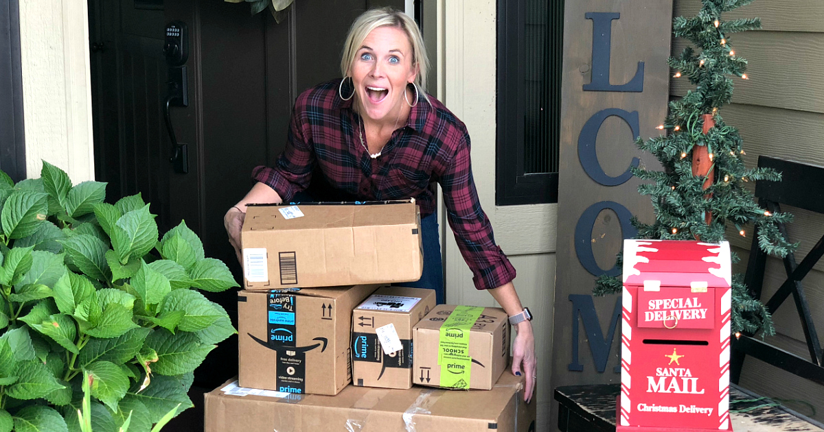 black friday giveaway amazon gift cards 2018 – Collin with amazon boxes