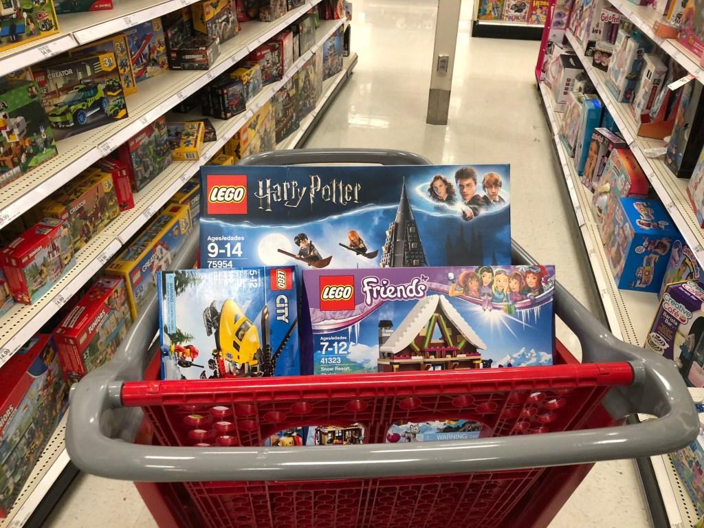 Buying Toys on Black Friday - cart of LEGO sets