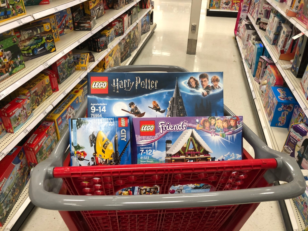 Buying Toys on Black Friday - cart of LEGO sets