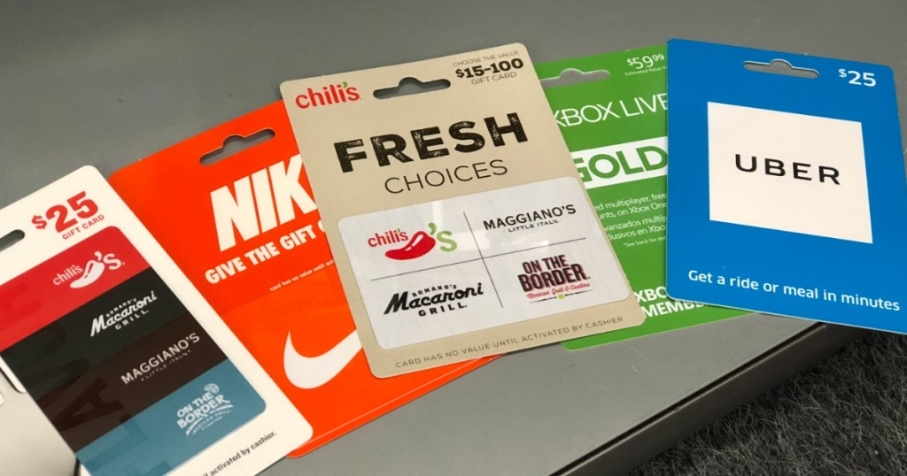 $50 Gift Cards Only $35 After CVS Rewards (Includes Chili's, XBox Live, Uber, & LOTS More)