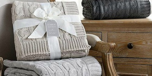 Cable-Knit Throws Only $15.79 on Zulily (Regularly $60)