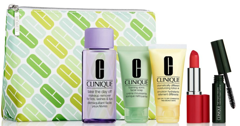 0e010409f23 Head over to Macy's to score a FREE 6-Piece Gift with a $29 Clinique  purchase ($69.75 value) automatically added to your cart. This gift  includes Take The ...