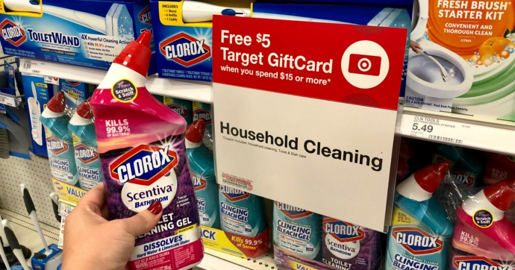 62b471d28 FREE $5 Target Gift Card w/ $15 Household Cleaning Purchase (In-Store &  Online)