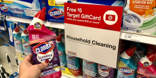 FREE $5 Target Gift Card w/ $15 Household Cleaning Purchase (In-Store & Online)