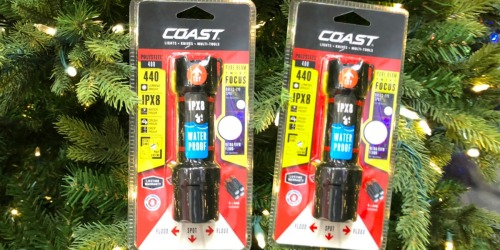 Home Depot: Coast Heavy Duty Waterproof LED Flashlights 2-Pack Only $19.88 (Just $9.94 Each)