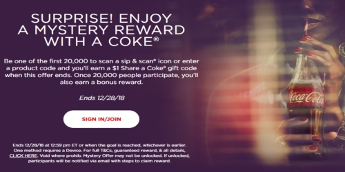 NEW Mystery Coke Reward