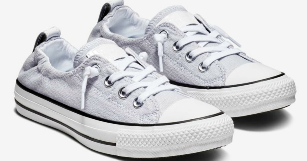 21d08c9e19b5 Head on over to Nike.com where select Converse Chuck Taylor All Star  Shoreline Slip Shoes in violet or white are on sale for  34.97 (regularly   55).