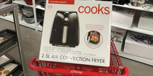 Cooks 2.5L Air Fryer Only $29.99 Shipped After JCPenney Rebate (Regularly $100)
