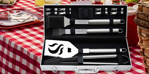 Amazon: Cuisinart Deluxe 14-Piece Stainless Steel Grill Set Only $19.54 Shipped + More