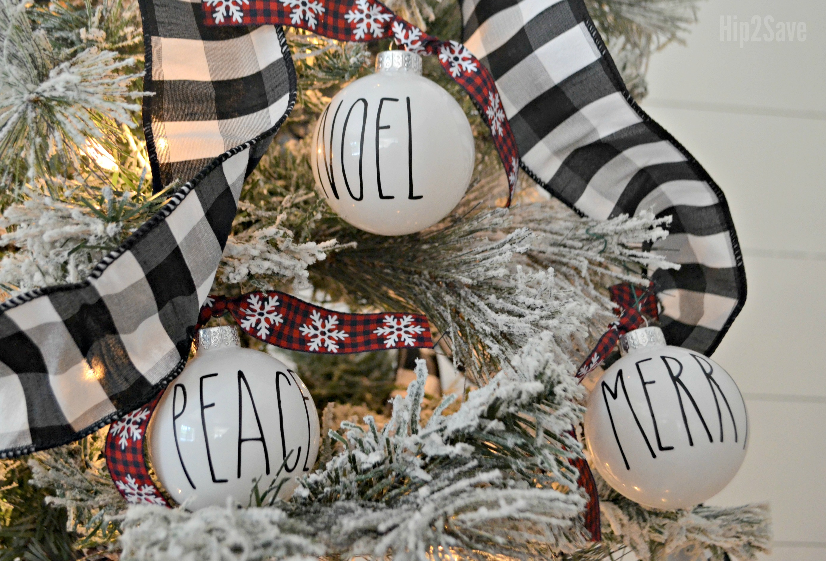 rae dunn christmas dollar tree – ornaments on the tree