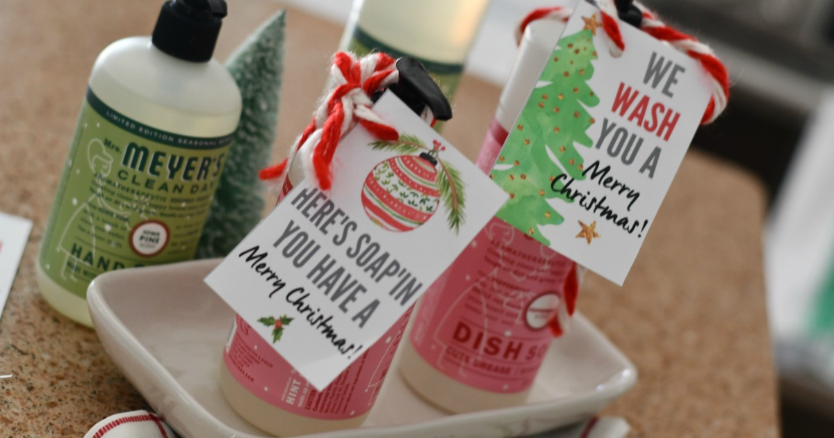 photograph about We Wash You a Merry Christmas Free Printable identify Do it yourself Hostess Present (Holiday vacation Soaps with Cost-free Printable Tags