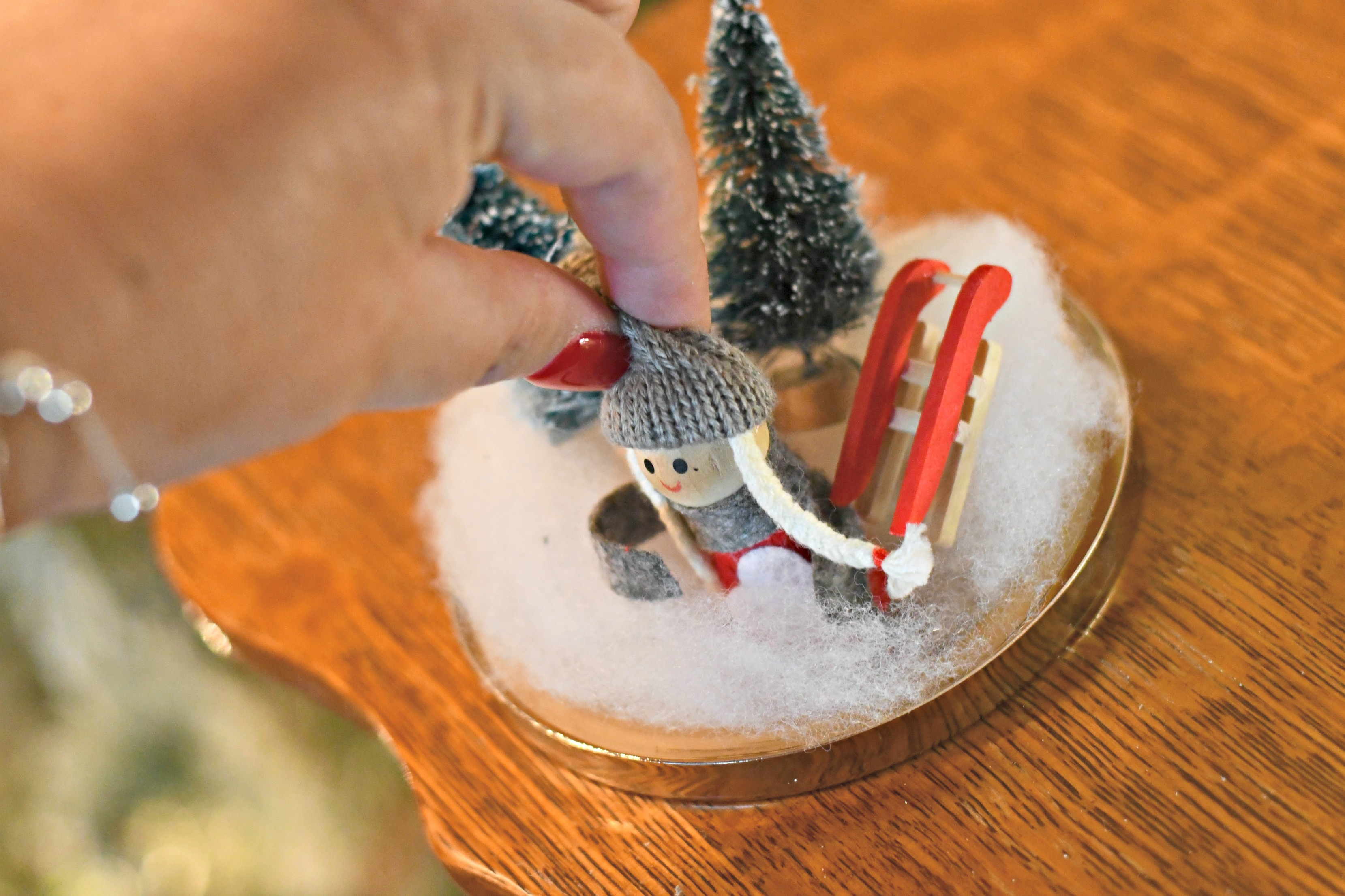 Bed Bath & Beyond Candle Jar into a DIY Snow Globe