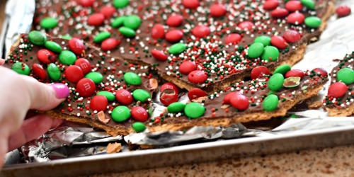 "Homemade ""Christmas Crack"" Toffee"