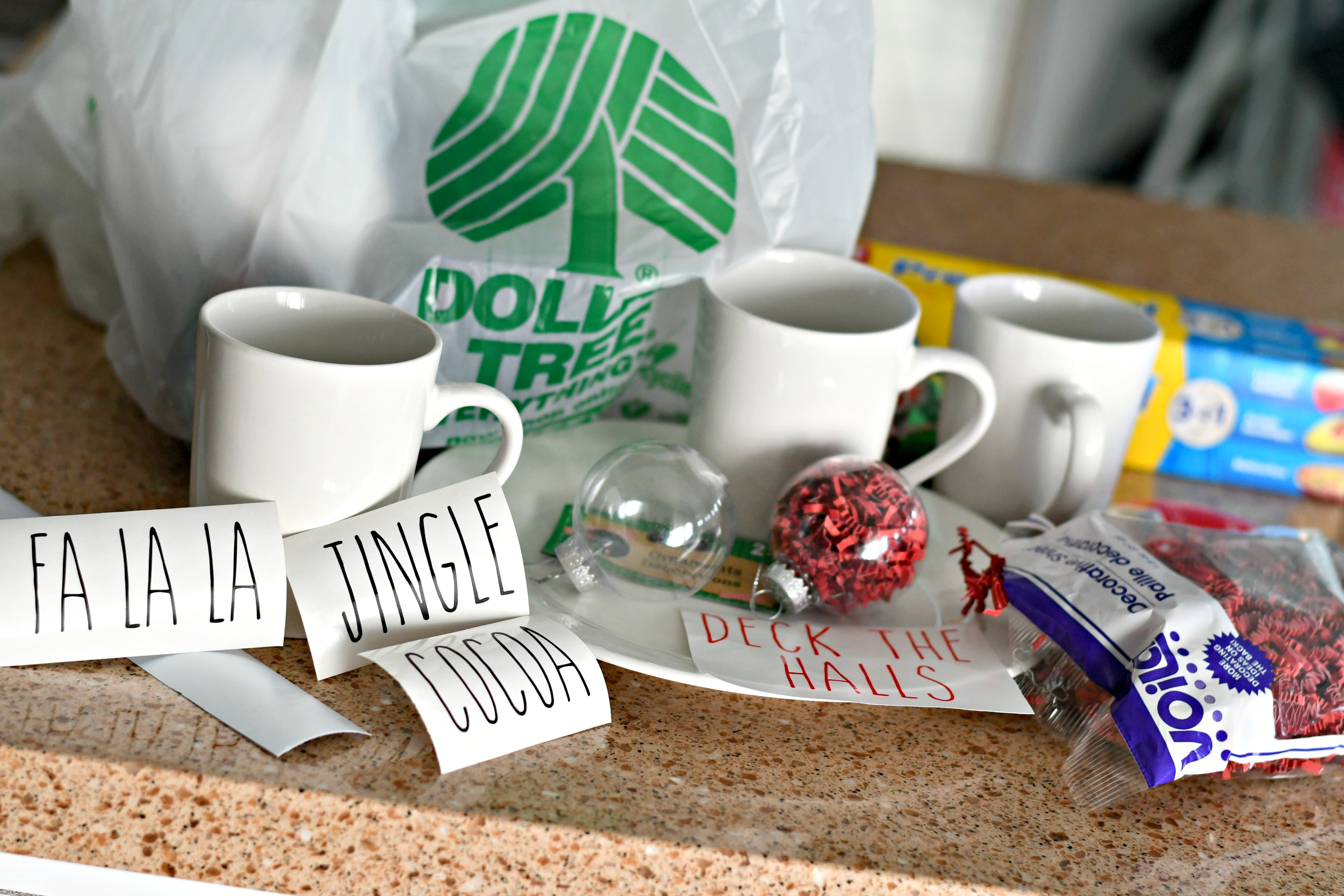 rae dunn christmas dollar tree – mugs, ornaments, and supplies