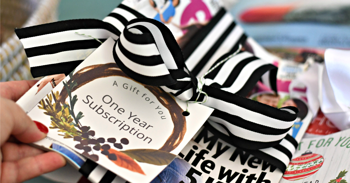 magazine subscription gift cards – Free Printable one year subscription card