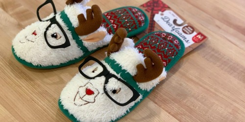 Dearfoams Women's Holiday Slippers Only $8.49 (Regularly $30) at Kohl's