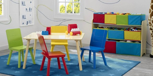 Amazon: Delta Deluxe Multi-Bin Toy Organizer AND Kids Table and Chair Set Only $45 Shipped (Regularly $110)