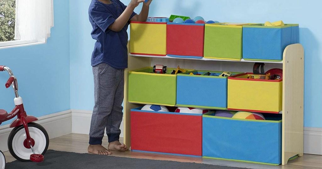 Enjoyable Amazon Delta Deluxe Multi Bin Toy Organizer And Kids Table Frankydiablos Diy Chair Ideas Frankydiabloscom