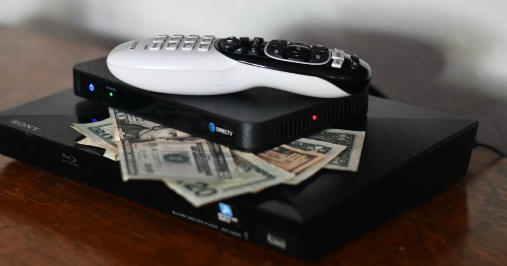 Directv Remote control on top of DVR and cash