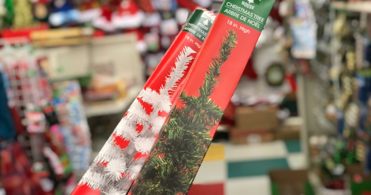 Mini Christmas Trees All The Trimmings Only 1 Each At Dollar Tree Hip2save