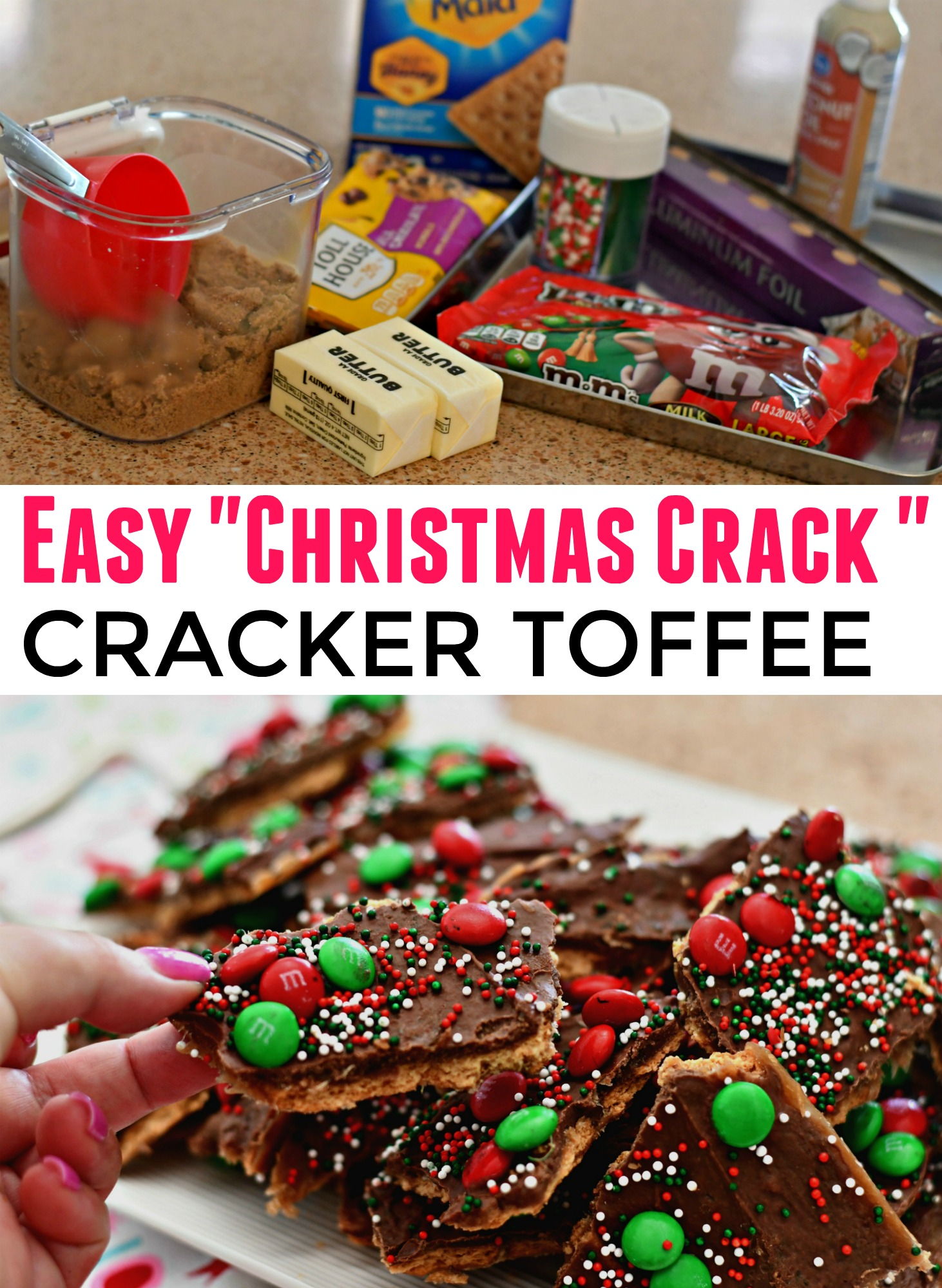 Christmas Crack Candy.Homemade Christmas Crack Toffee