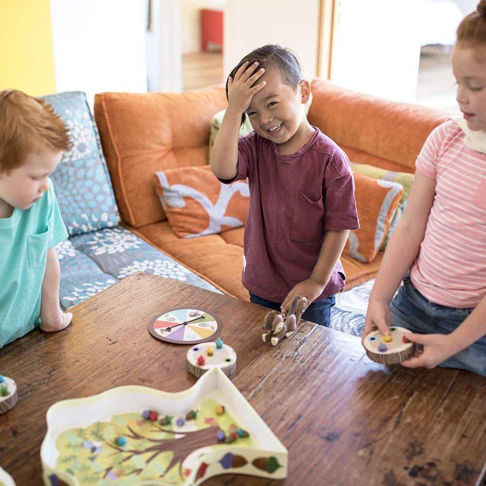 kids playing Educational Insights The Sneaky, Snacky Squirrel Game 2