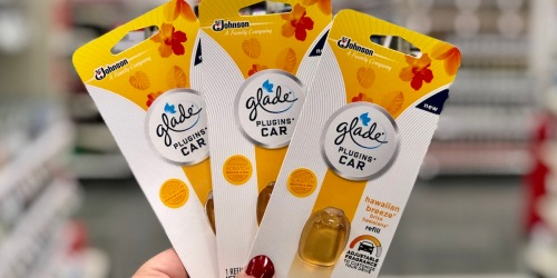 High Value $1.50/1 Glade PlugIns Car Coupon = as low as $1.24 Each at Target