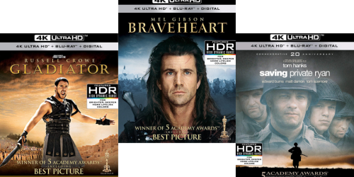 Amazon: THREE 4K Ultra HD + Blu-ray + Digital Movies Just $39.99 Shipped