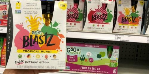 55% Off GoGo squeeZ BlastZ Fruit Pouches at Target