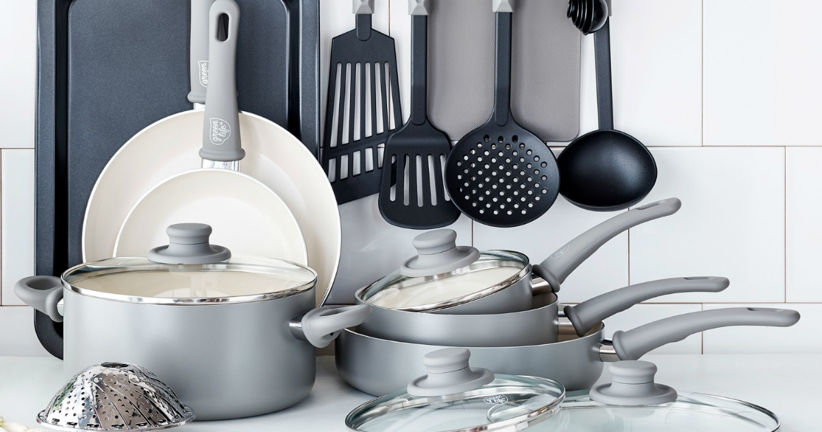 Made Of Thermolon And Toxin Free This Set Contains A 7 Open Frypan 9 5 1 Quart Covered Sauce Pan 2