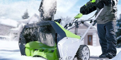 Greenworks 20″ Corded Snow Thrower Only $100.86 Shipped at Amazon (Regularly $199)
