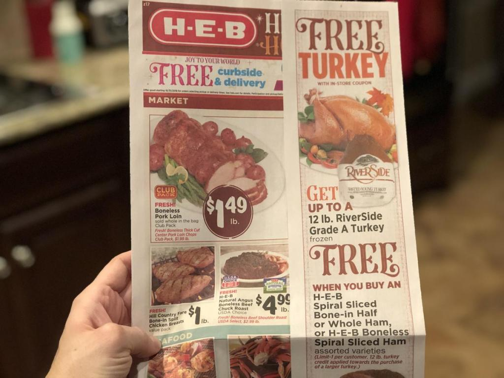 HEB free turkey promotion
