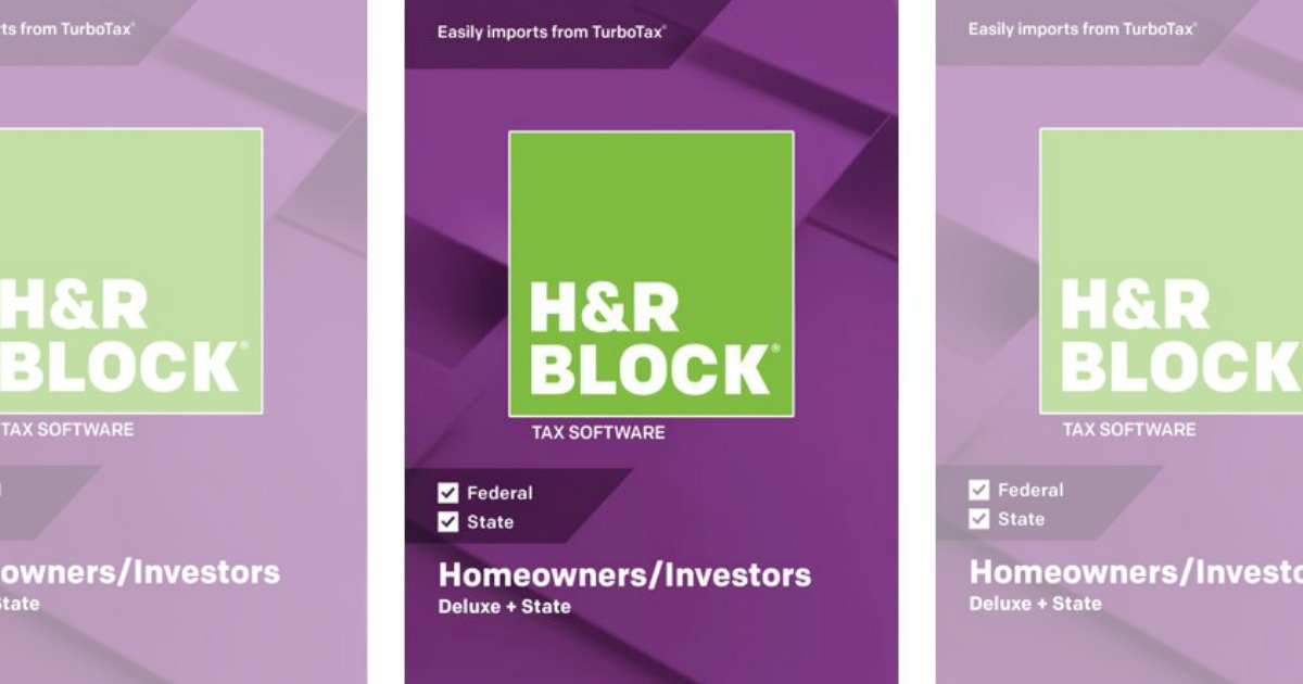 H&R Block 2018 Deluxe Federal + State Tax Software Only $18 at Walmart (Regularly $45)