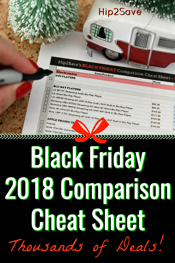 Hip2Save's Black Friday Cheat Sheet Pinterest