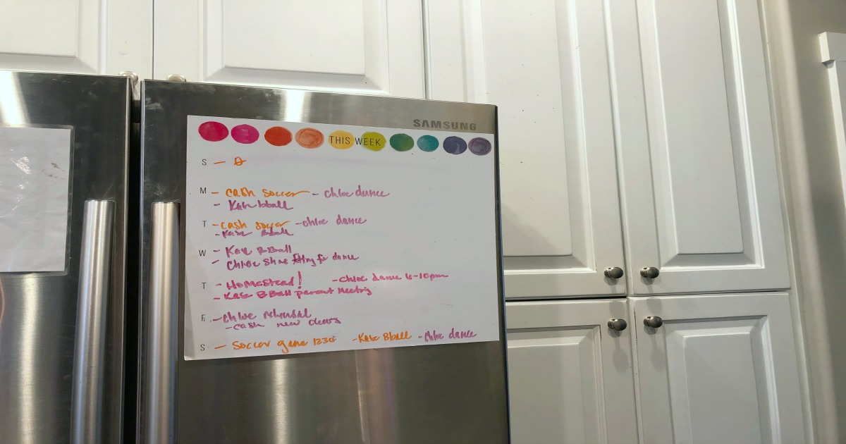 meal planning tips busy family – weekly schedule