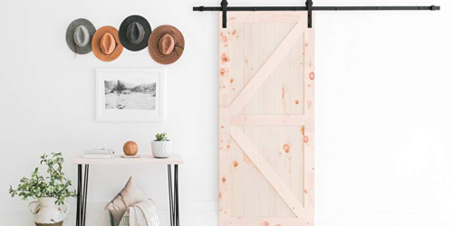 Highly Rated Heavy Duty Sliding Barn Door Hardware Kit Just $69.99 (Regularly $100) & More