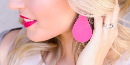 Leather Statement Earrings Only $9.99 Shipped (TONS of Colors Available)