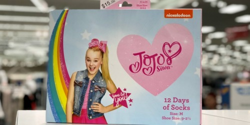 12 Days of Socks Sets as Low as $12.50 Each Shipped After Target Gift Card (JoJo Siwa, Star Wars & More)