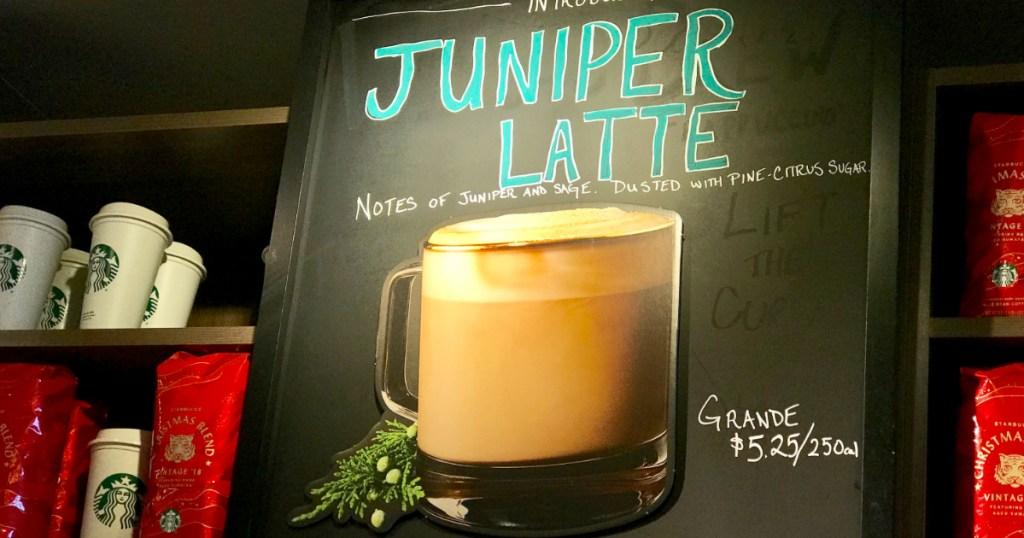 Juniper Latte at Starbucks locations
