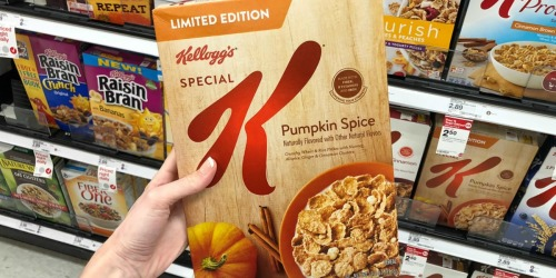 Kellogg's Special K Seasonal Cereals Only 40¢ Per Box After Target Gift Card