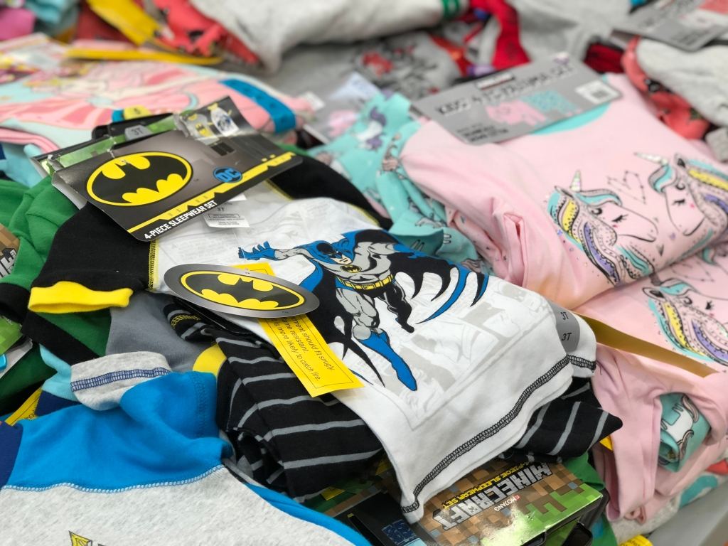 Kids 4 piece pajama sets at Cosco