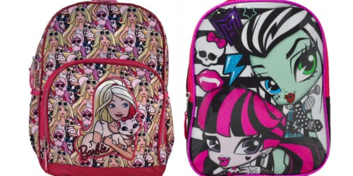Kids Backpacks as Low as $3.30 Each Shipped (Life of Pets, Monster High, Barbie & More)