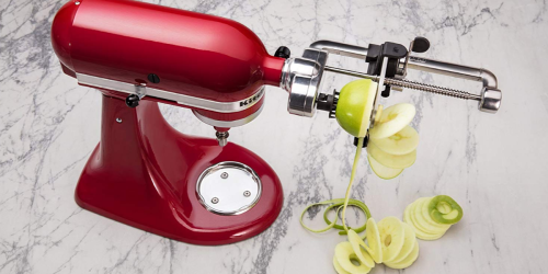 Amazon: KitchenAid Spiralizer Attachment Set Only $59.95 Shipped (Peel, Core AND Slice)